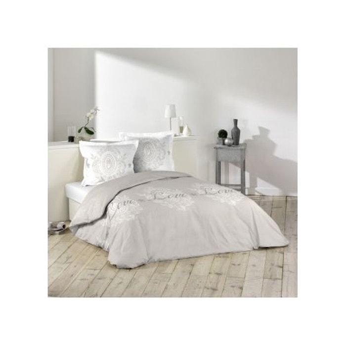 Parure de lit impression romantique sans home maison la - Linge maison la redoute ...
