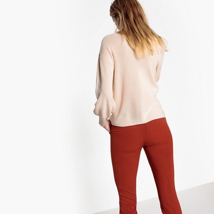 Collections de Jersey pico Redoute fino cuello con La de punto w0qxgCP05