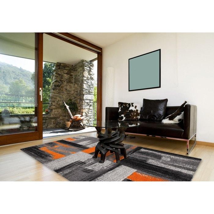 tapis vintage effet 3d et ray pour int rieur orange. Black Bedroom Furniture Sets. Home Design Ideas