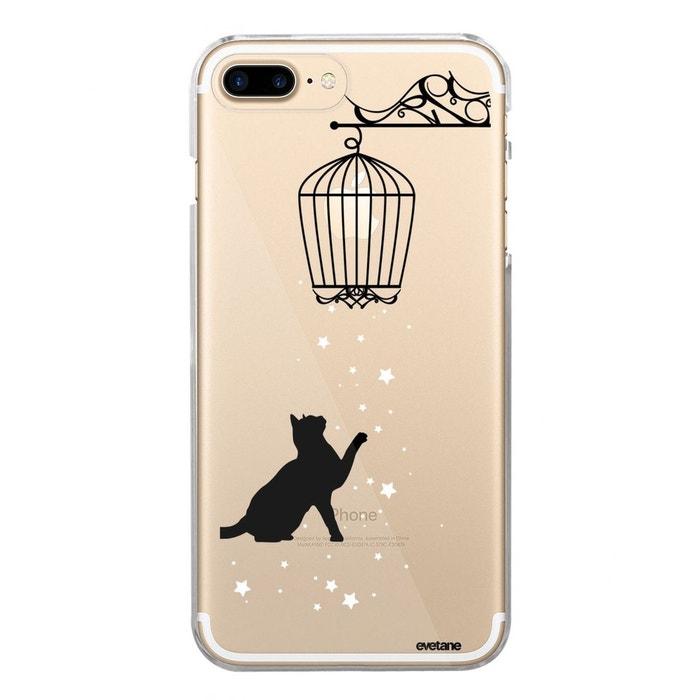 iphone 8 plus coque transparente avec chat
