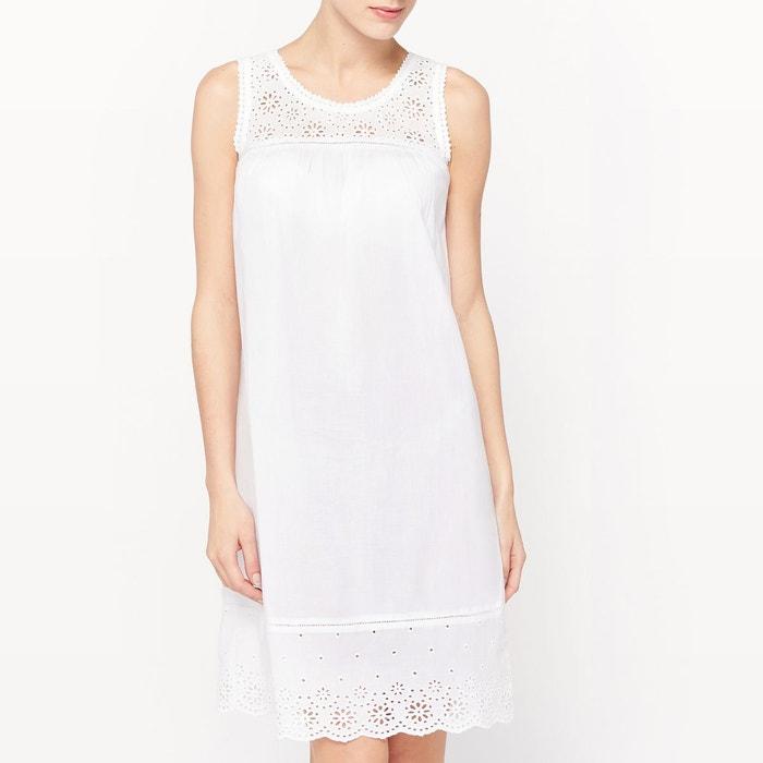 Chemise de nuit blanc la redoute collections la redoute - Guide des tailles la redoute ...