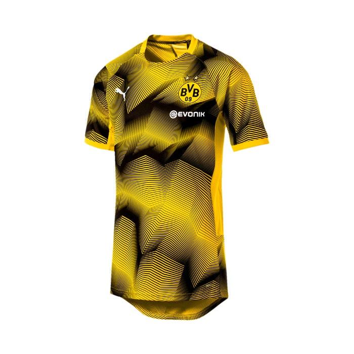70f6576036b Borussia dortmund football logo print t-shirt , yellow, Puma | La Redoute