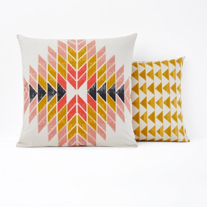 taie d 39 oreiller pur coton eyota la redoute interieurs sable moutarde orange nude la redoute. Black Bedroom Furniture Sets. Home Design Ideas