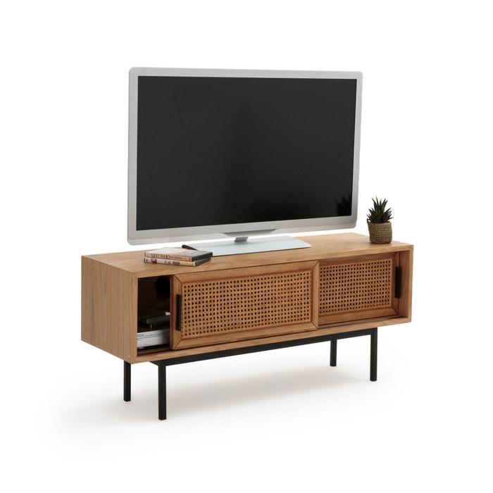 TV-kast in eik en riet, 2 deuren, WASKA  LA REDOUTE INTERIEURS image 0