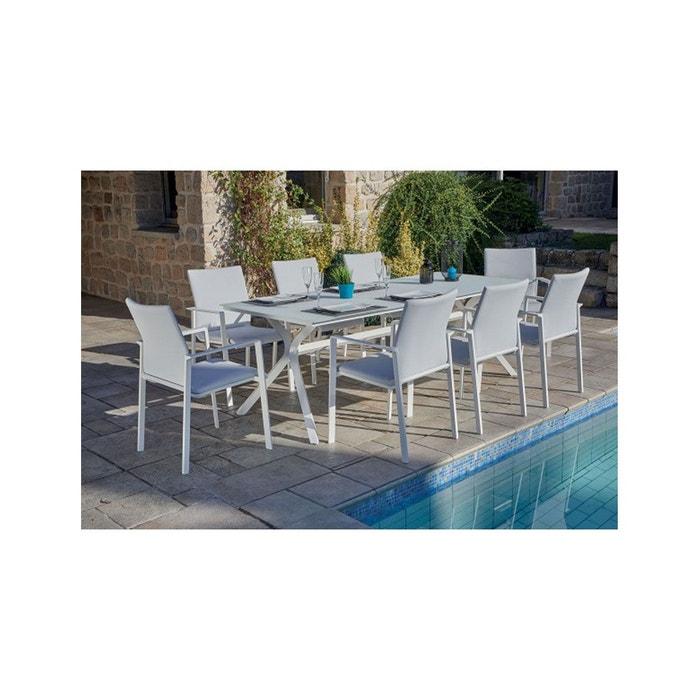 Salon de jardin blanc avec pied design
