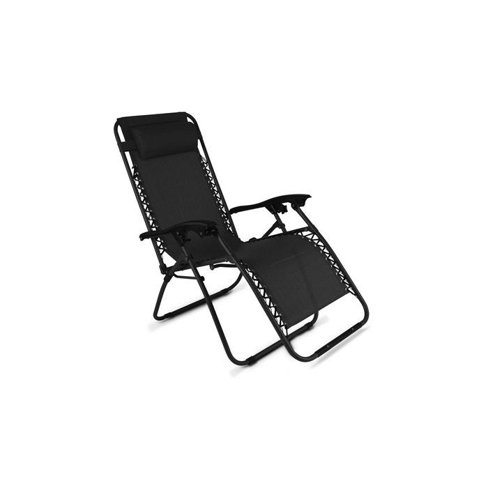 fauteuil de jardin pliant relax oviala image 0 - Fauteuil Pliant Relax