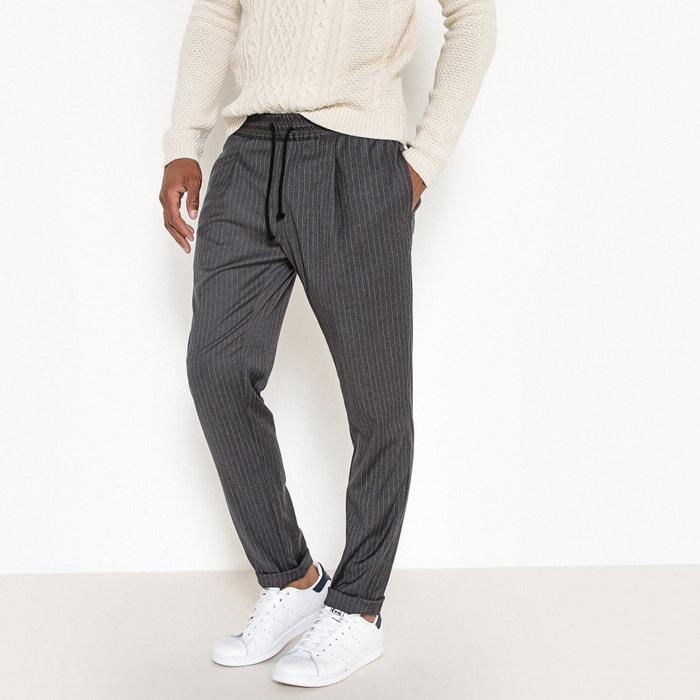 Pantalon jogpant rayé taille élastiquée  La Redoute Collections image 0
