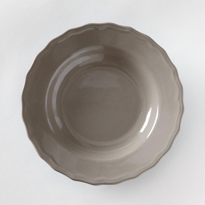 Set of 4 Ajila Scalloped Edge Soup Plates
