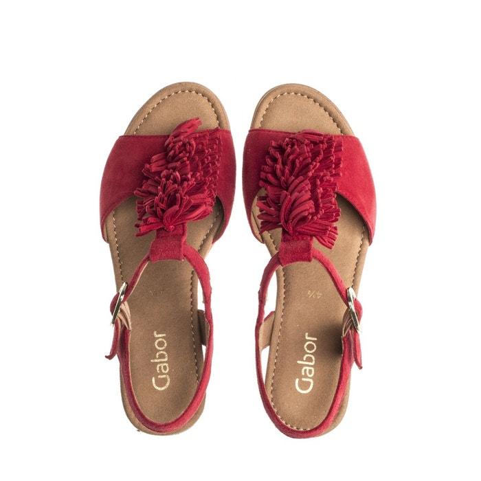 Sandales jaunes à talon Gabor
