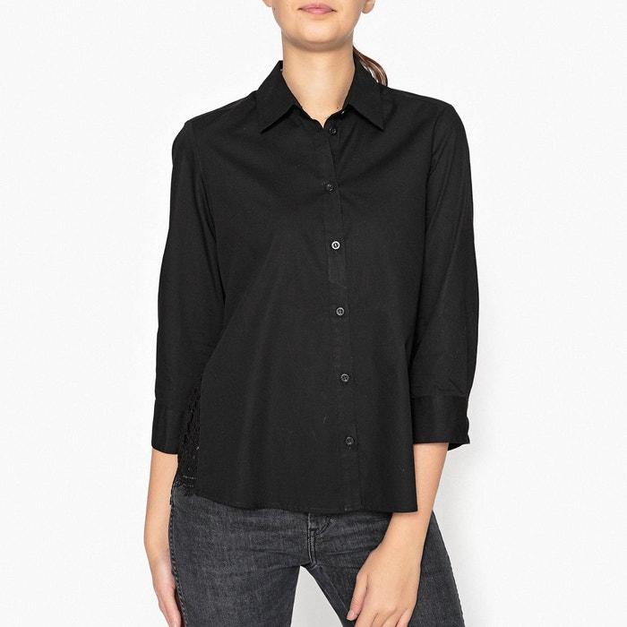 chemise avec dentelle au dos majolie noir paul and joe sister la redoute. Black Bedroom Furniture Sets. Home Design Ideas