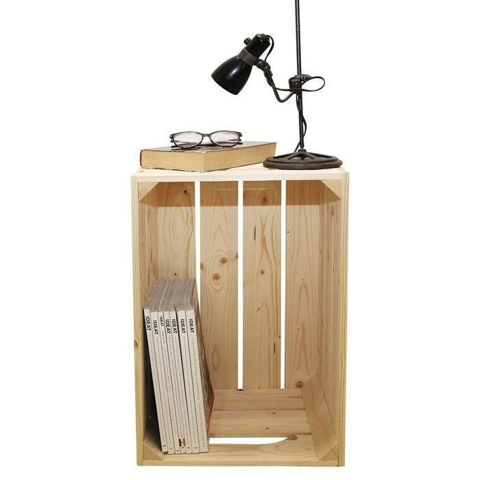 Table De Chevet Bois Brut Brossé Personnalisable Marron Simply A Box