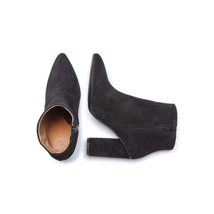 Bottes en cuir daim - black Selected Femme