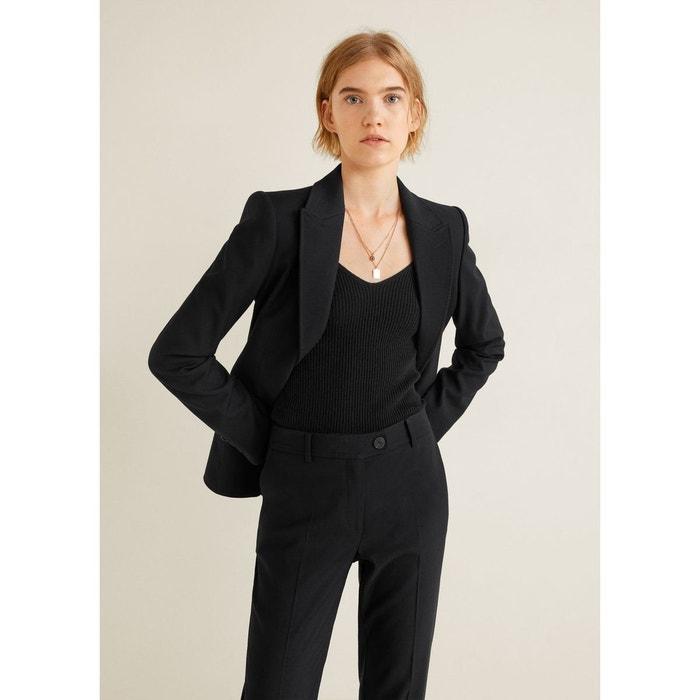 Pantalon droit costume noir Mango   La Redoute 51f9da4e6005