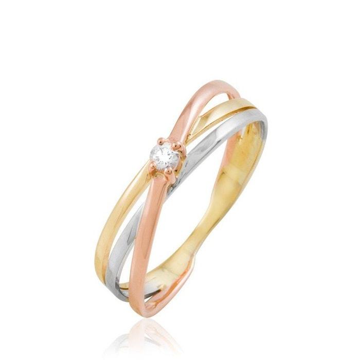 Bague or et diamant tricolore Histoire D'or | La Redoute Sortie Très Pas Cher OqsXP