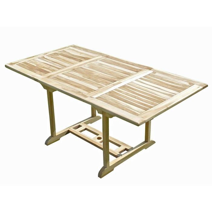Table de jardin en teck serang 6 8 places naturel c et l jardin la redoute Table jardin teck la redoute