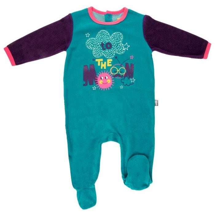 b9084185aee83 Pyjama bébé velours rêveuse bleu Petit Beguin