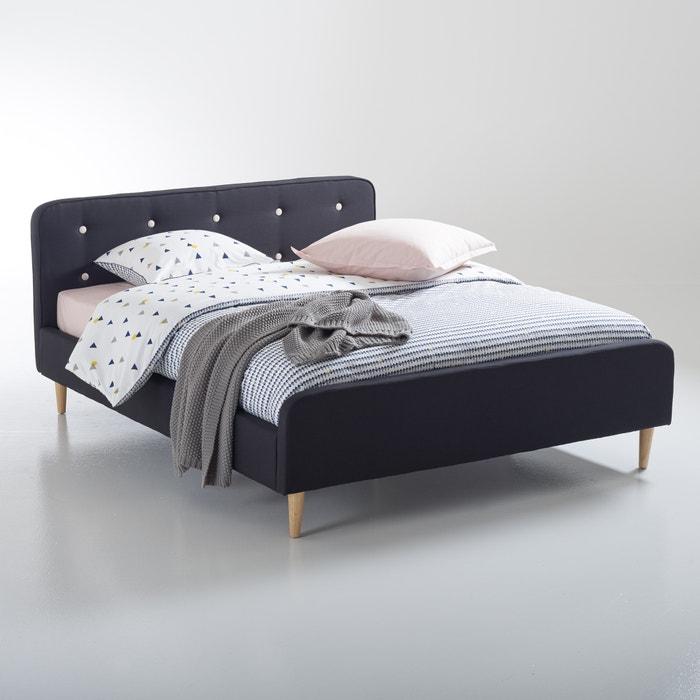 afbeelding Bed, stevig gecapitonneerde stof, Lauréo La Redoute Interieurs