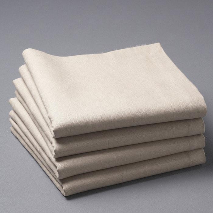 Image Pack of 4 BORDER Linen Blend Napkins La Redoute Interieurs
