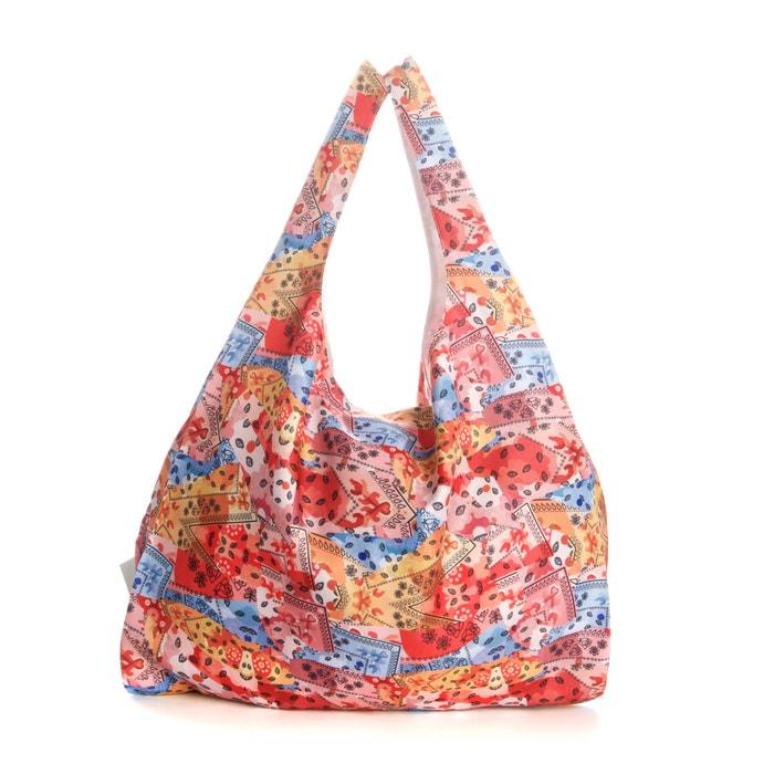 Image Tote bag imprimé fleuri AMELIE PICHARD X LA REDOUTE MADAME