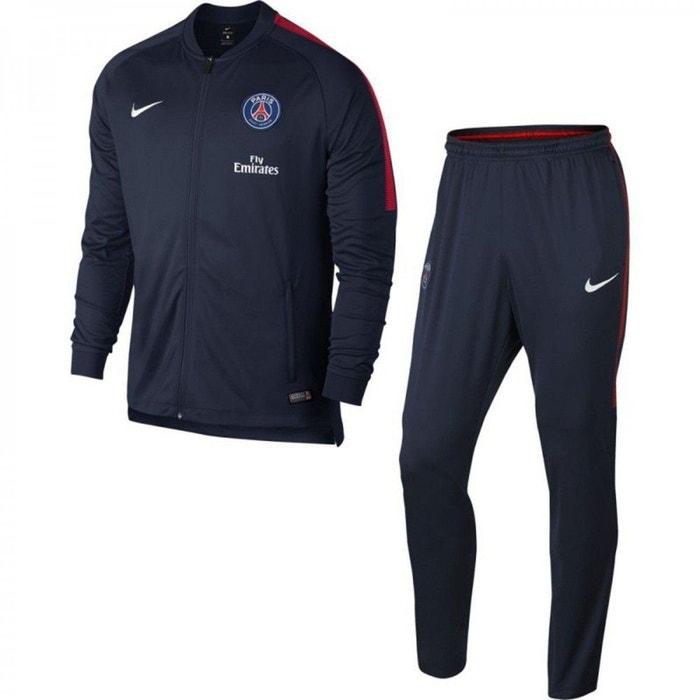 fb515bde431 Ensemble de survêtement psg m nk dry trk suit bleu Nike