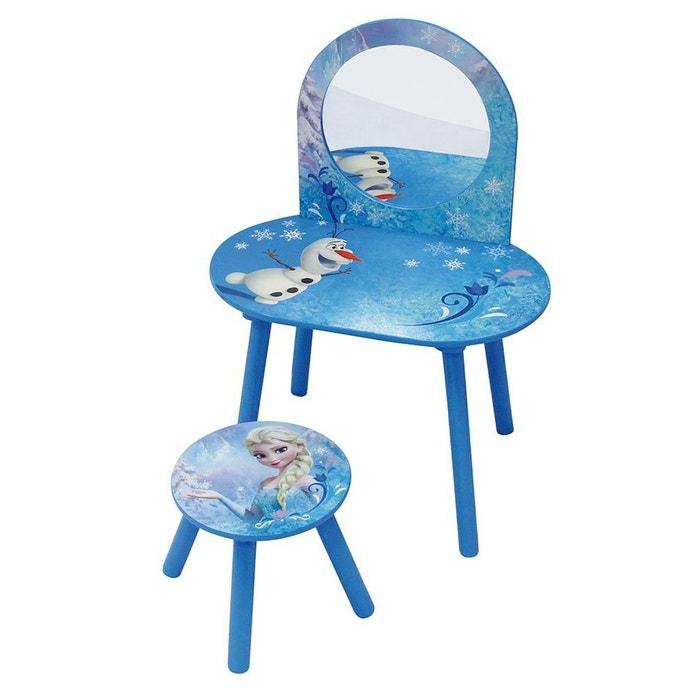 coiffeuse avec tabouret la reine des neiges frozen bleu fun house la redoute. Black Bedroom Furniture Sets. Home Design Ideas