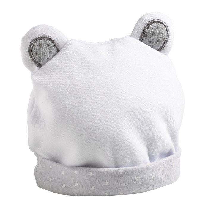 71a7cc55568 Bonnet bébé naissance - 1 mois céleste blanc Sauthon
