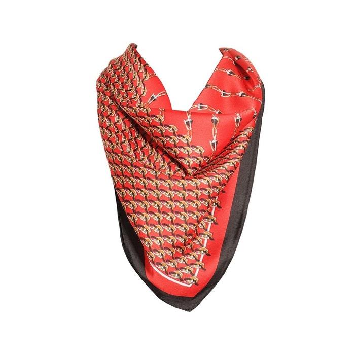 Foulard motif rouge avec sa pochette cadeau rouge Versace 19.69   La Redoute 8ec4837bd6e