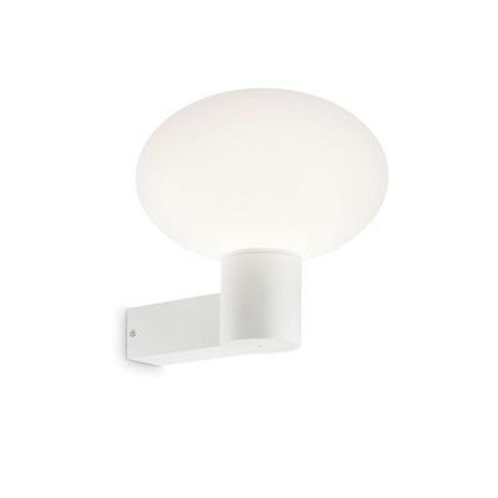 applique murale ext rieure armony blanc 1x60w ideal lux. Black Bedroom Furniture Sets. Home Design Ideas