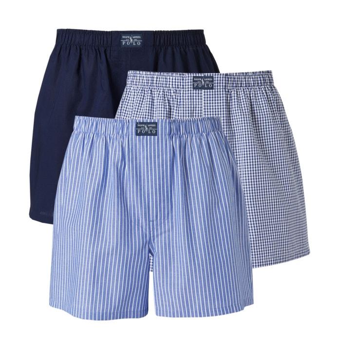 Pack of 3 Poplin Boxer Shorts  POLO RALPH LAUREN image 0