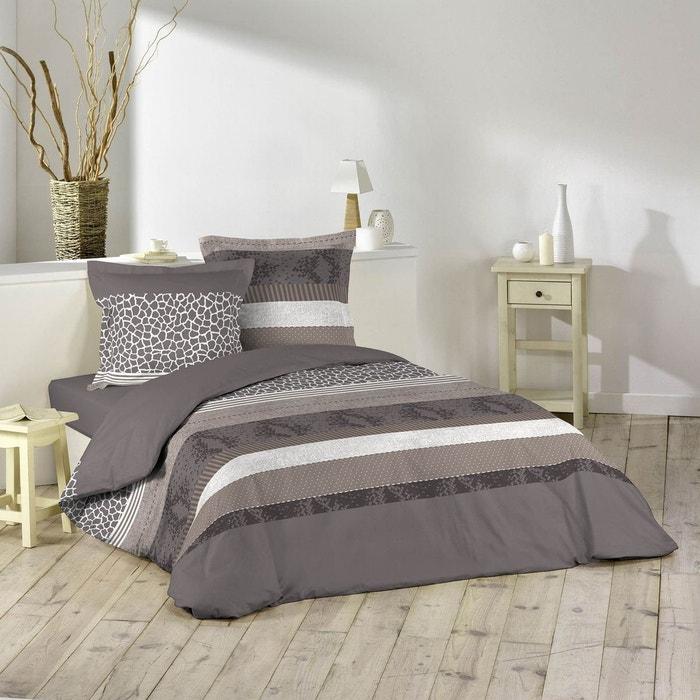 parure housse de couette imprime collection serpentine gris douceur d 39 int rieur la redoute. Black Bedroom Furniture Sets. Home Design Ideas