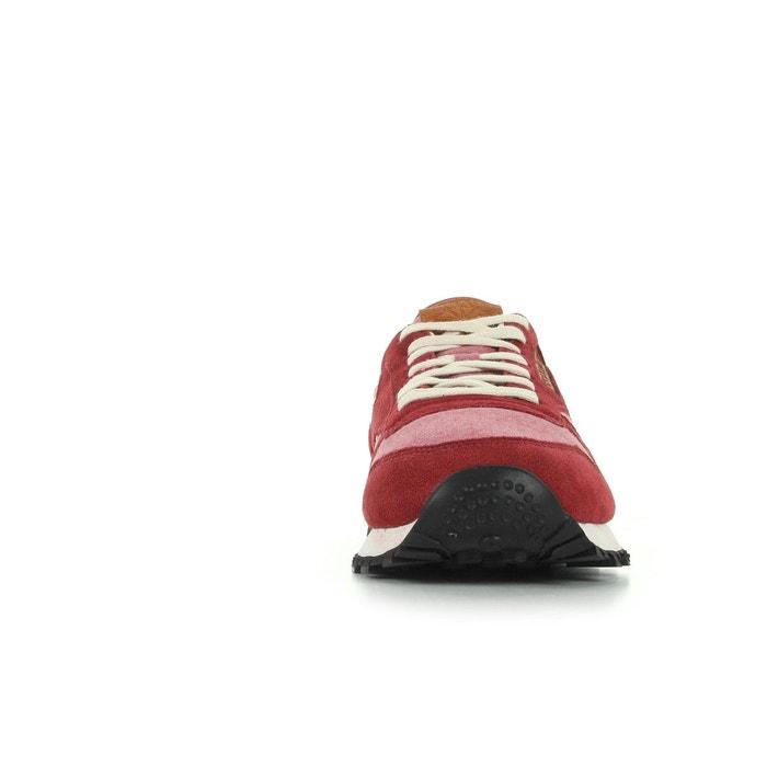 Baskets homme cl leather ch rouge, ecru, brun Reebok