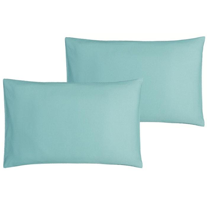 lot de 2 taies d 39 oreiller b b p 39 tit basile 40x60 cm turquoise bleu p tit basile la redoute. Black Bedroom Furniture Sets. Home Design Ideas