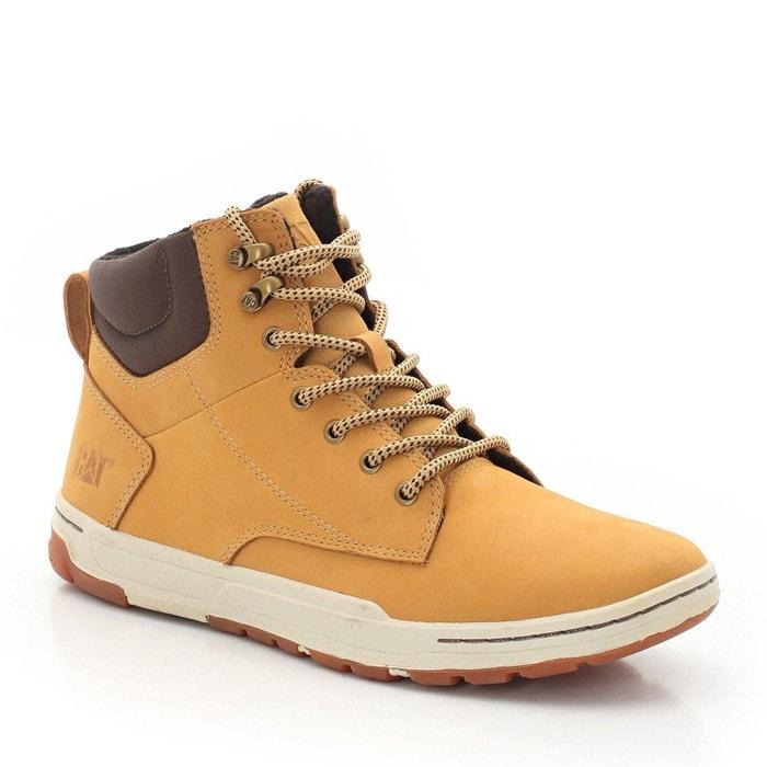 Boots en cuir colfax mid   miel Caterpillar   La Redoute