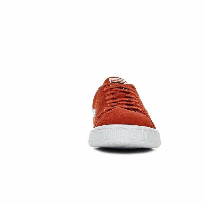 Baskets homme suede classic orange-gris-blanc Puma