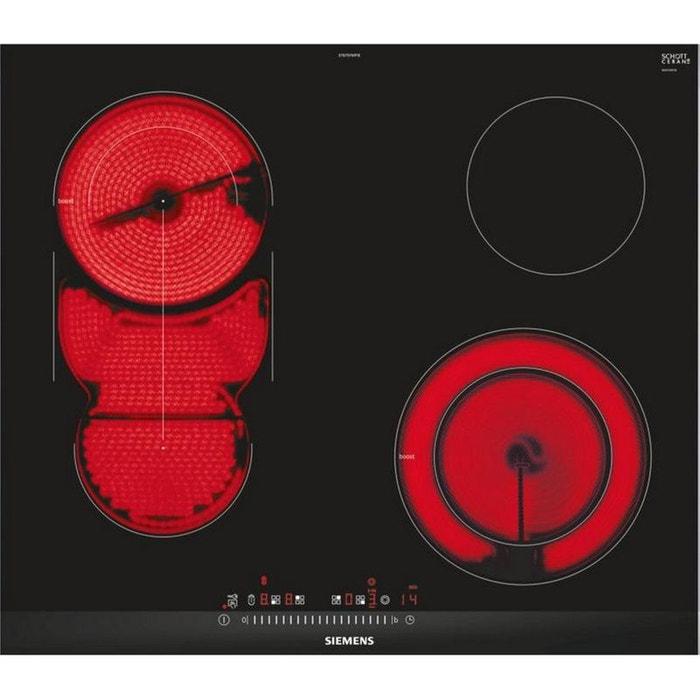 siemens plaque de cuisson vitroc ramique 60cm 4 feux. Black Bedroom Furniture Sets. Home Design Ideas
