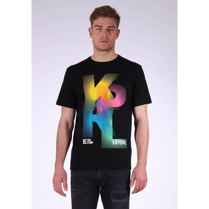 9330e75ed8fd5 T-shirt imprimé à manches courtes 100% coton ruff noir black Kaporal ...