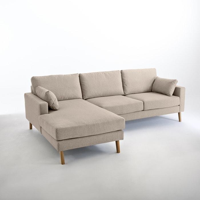 afbeelding Hoekcanapé, vast model, Stockholm, mêlee polyester, uitstekend comfort La Redoute Interieurs