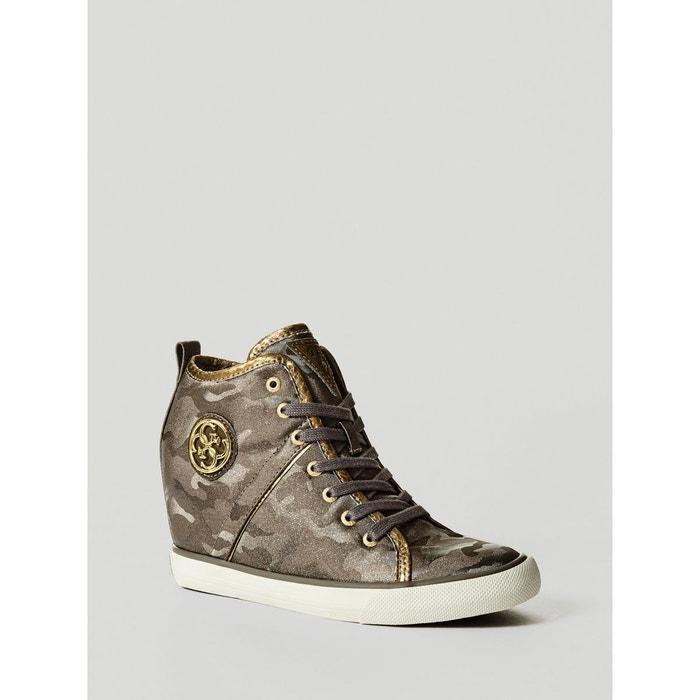 Sortie D'usine Pas Cher Libre Rabais D'expédition Sneaker compensee jilly camouflage camouflage Guess Vente Magasin De Dédouanement nm6OrUtx