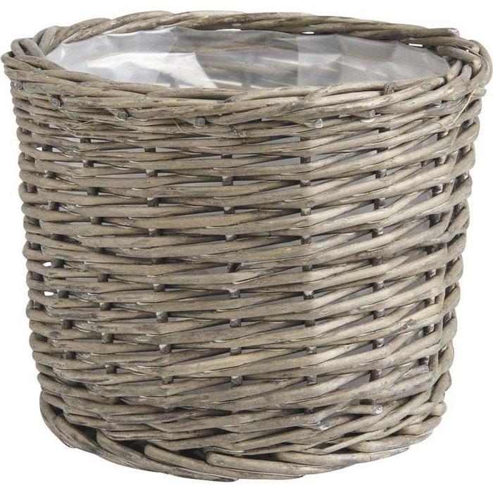 cache pot rond en osier gris lot de 5 gris aubry gaspard la redoute. Black Bedroom Furniture Sets. Home Design Ideas