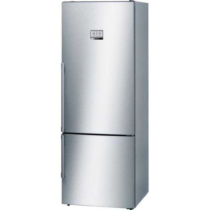 refrigerateur congelateur en bas kgf56pi40 inox bosch la. Black Bedroom Furniture Sets. Home Design Ideas