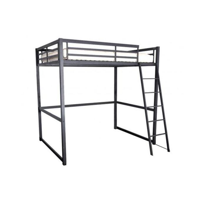 lit mezzanine 140x190 cm kurli noir declikdeco la redoute. Black Bedroom Furniture Sets. Home Design Ideas