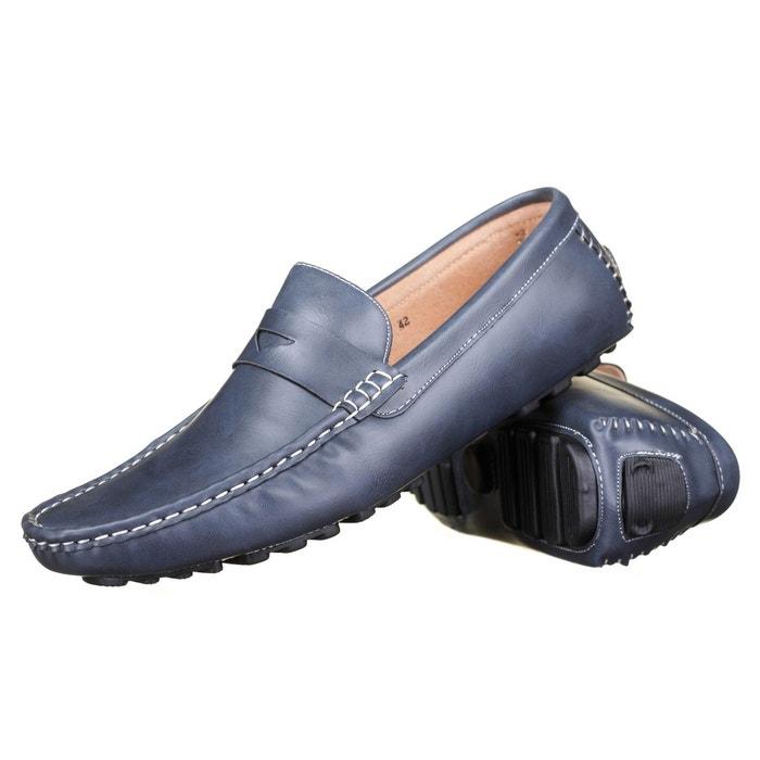 Chaussure derbie à détails lacets  bleu Reservoir Shoes  La Redoute