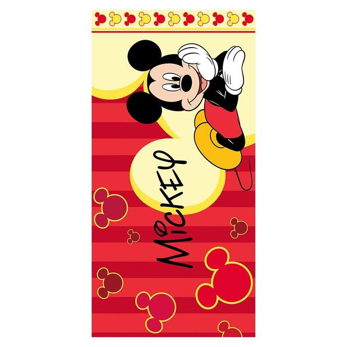 Drap De Plage Enfant Mickey Rouge Rouge I Fil Home La Redoute