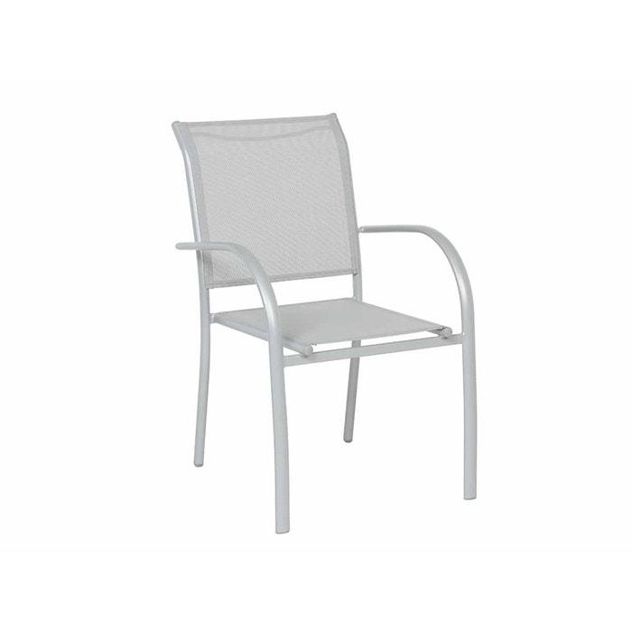 Fauteuil de jardin en texaline piazza gris gris mat couleur unique hesperide la redoute for Fauteuil salon de jardin la redoute