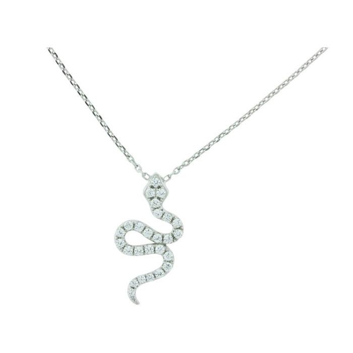 Collier argent oxyde serpent victoria kiss oxyde de zirconium Ysora | La Redoute Nouvelle Vente En Ligne 4ueG2O2