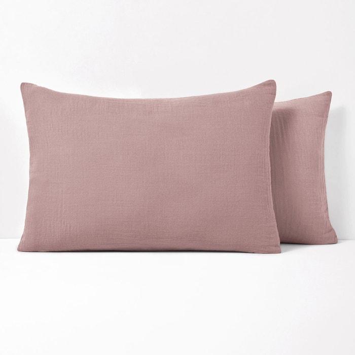 taie d 39 oreiller unie en gaze de coton snow la redoute. Black Bedroom Furniture Sets. Home Design Ideas