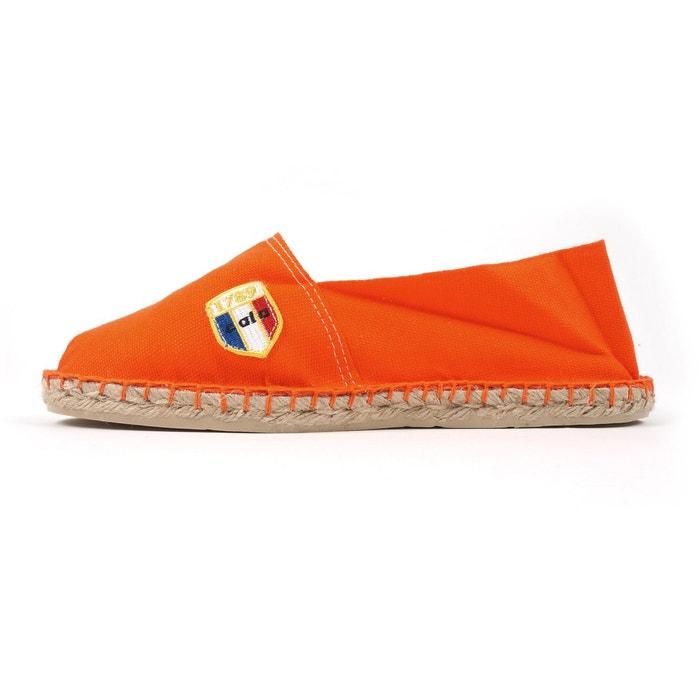 Espadrilles en toile orange - made in france orange 1789 Cala