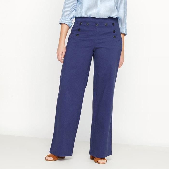 Image Stretch Fabric Wide Leg Trousers CASTALUNA