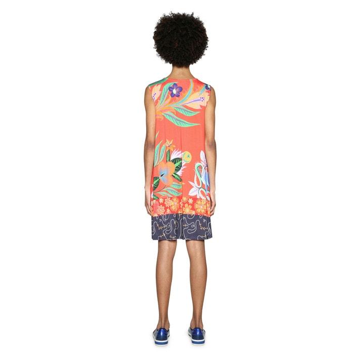 Vestido DESIGUAL tropical con sin mangas recto motivo Txzxq4vw