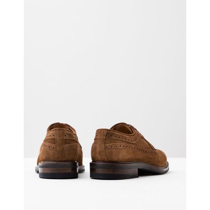 Chaussures richelieu corby daim marron clair Boden